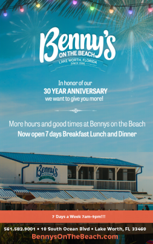 Benny's on the Beach Weekly Specials and Special Events