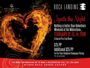 Valentine's Weekend at the Waterstone Resort - 5 Course Prix Fixe Dinner