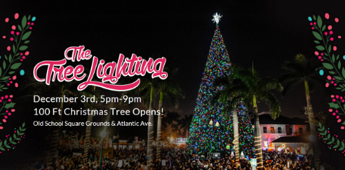 100 Ft Christmas Tree Lighting in Delray Beach & 100 Ft Christmas Tree Lighting in Delray Beach - LivingFLA.com
