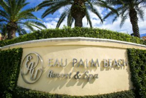 Entrance Eau Palm Beach Resort & Spa