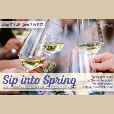 Chanson Sip into Spring Wine Series
