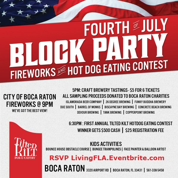 Tilted Kilt 4th of July Fireworks Block Party and Hotdog Eating Contest
