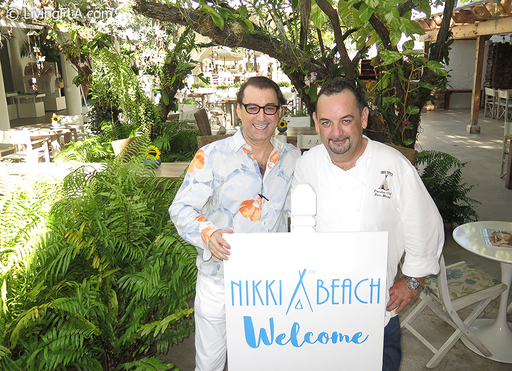 Chef Brian Molloy, Nikki Beach Miami and Cary Roman, LivingFLA.com