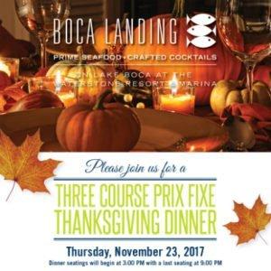 Thanksgiving at Waterstone Resort and Marina