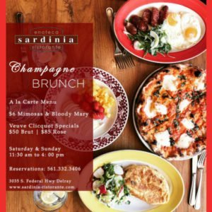 Brunch at Sardinia Ristorante, Delray Beach