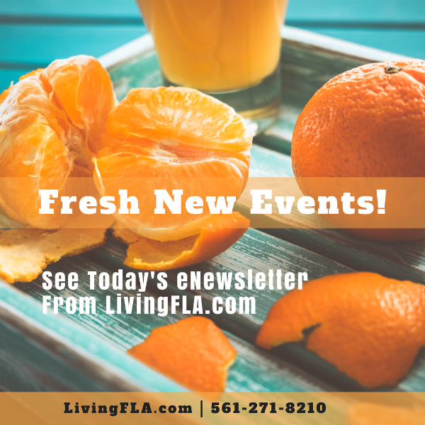 Fresh New Events from http://LivingFLA.com!