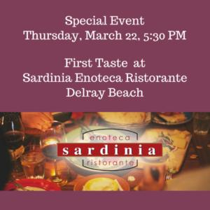 First Taste Sardinia Enoteca