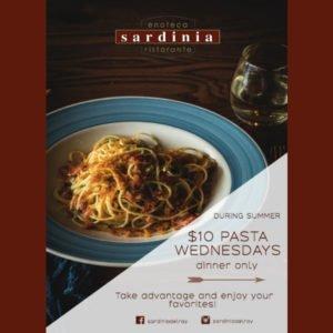 $10 Pasta Wednesdays at Sardinia Ristorante, Delray Beach