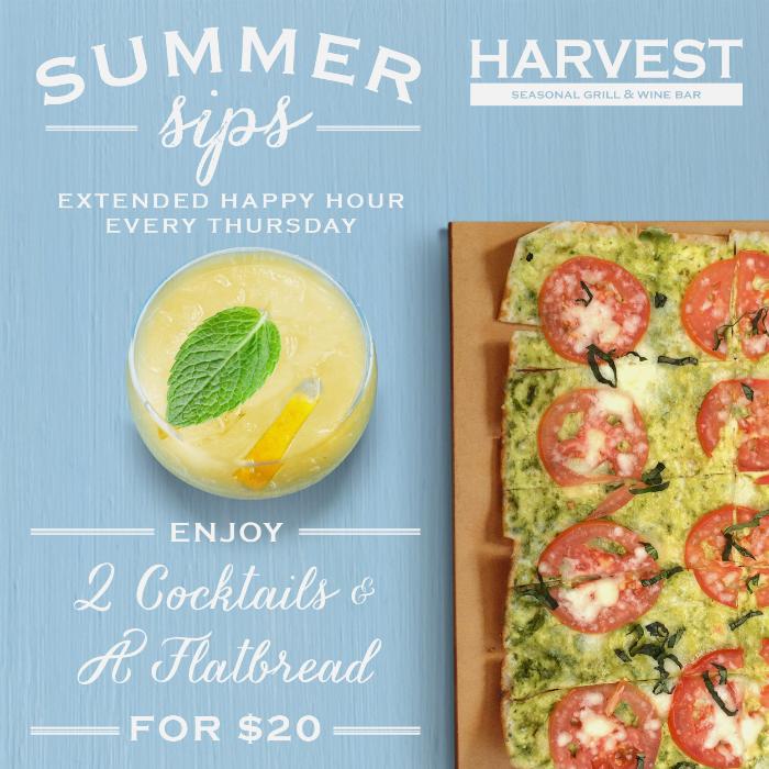 Summer Sips Thursday Special at Harvest Seasonal Grill