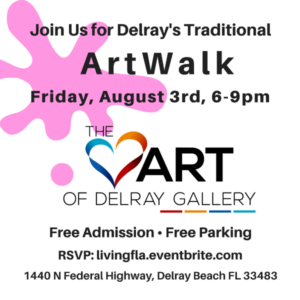 September ArtWalk at the Heart of Delray Gallery Delray Beach