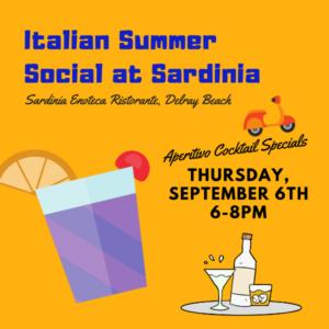 Italian Summer Social at Sardinia Enoteca Ristorante, Delray Beach