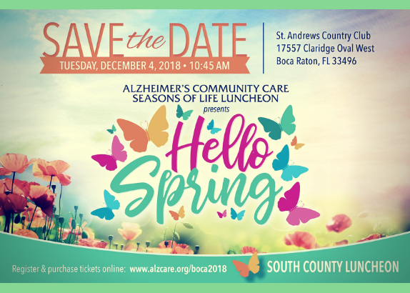2018 Alzheimer's South County Luncheon St. Andrews Country Club