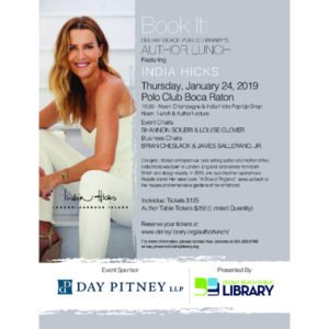 Author Lunch with India Hicks at The Polo Club Boca Raton