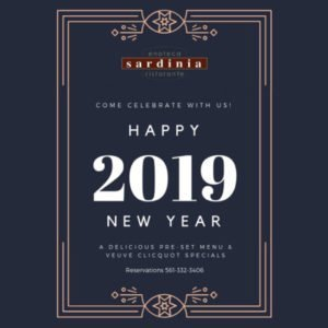 New Year's Eve at Sardinia Enoteca Ristorante, Delray Beach