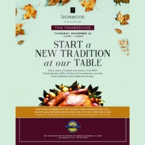 Thanksgiving 2018 PGA National - At Ironwood Steak & Seafood