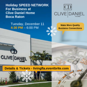 Holiday Business Speed Network at Clive Daniel Home, Boca Raton
