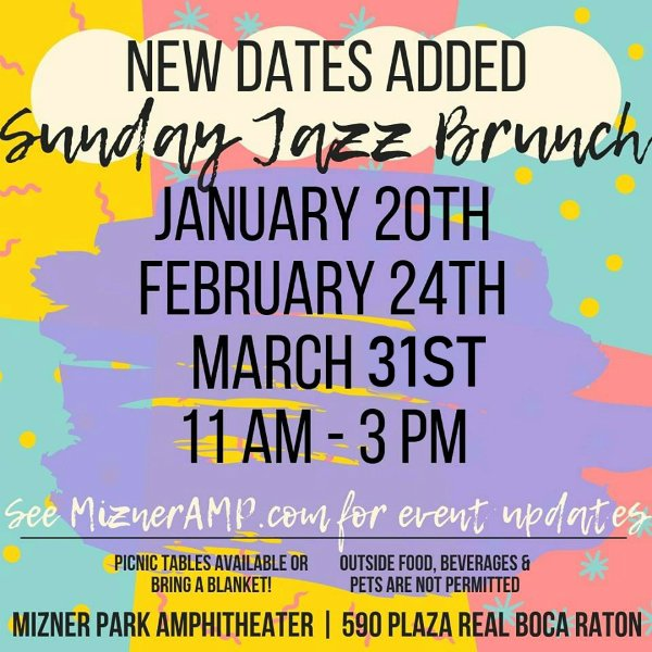 Sunday Jazz Brunch in Mizner Park Amphitheater | Free Event