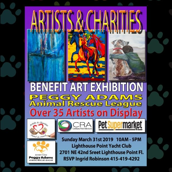 Artists and Charities Art Show to benefit Peggy Adams Animal