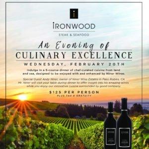 Niner Estates Wine Dinner at Ironwood Steak and Seafood at PGA National