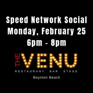 Speed Network Social at The Venu Restaurant and Bar, Boynton Beach