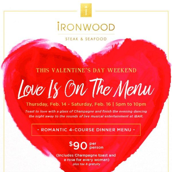 Valentine's Day at Ironwood Steak & Seafood, PGA National