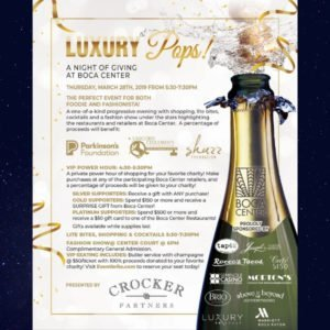 Luxury Pops A Night of Giving at Boca Center