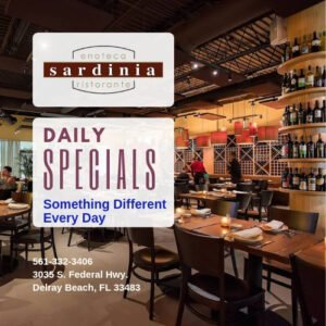 Happy Hour & Summer Specials at Sardinia Delray Beach