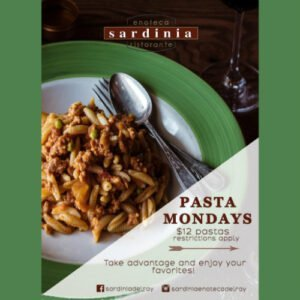 Pasta Mondays at Sardinia Delray