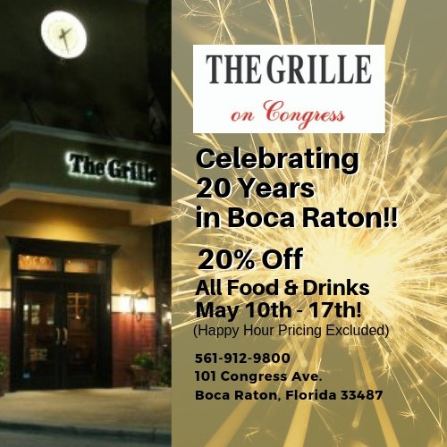 Save 20% at The Grille On Congress